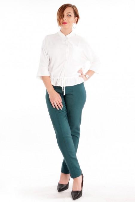 Pantaloni conici din denim Verde