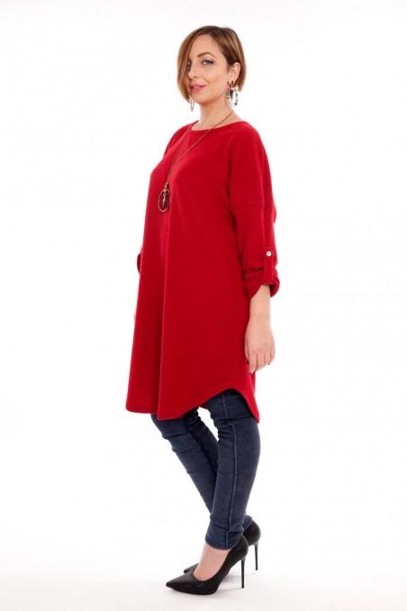 Bluză tip rochie cu colier inclus – Bordo