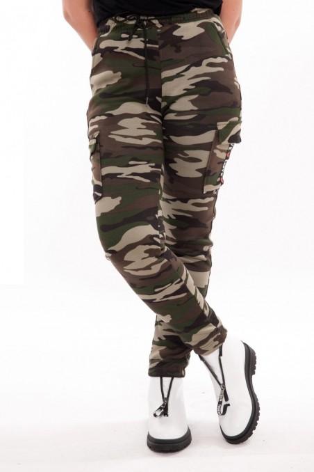 Pantaloni army îmblăniți – Verde