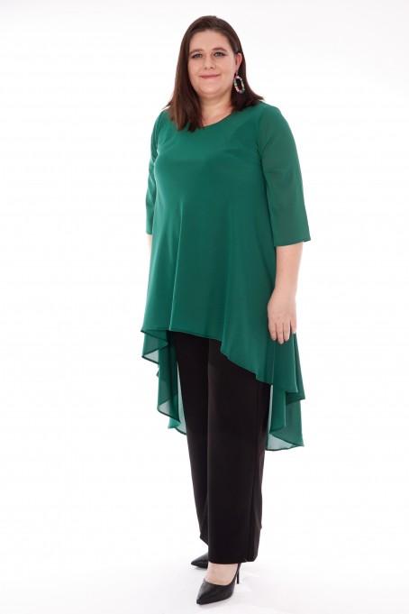 Compleu elegant cu pantaloni India Verde