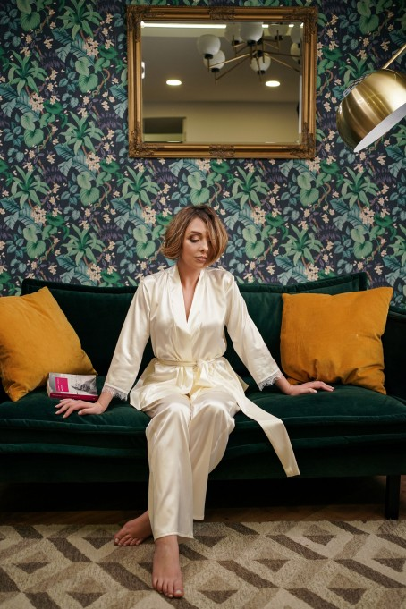 Pijamale din satin Luna by Cosmina...