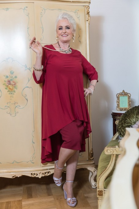 Rochie Leona - Bordo
