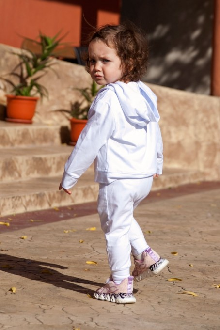 Trening de copii din bumbac - Alb