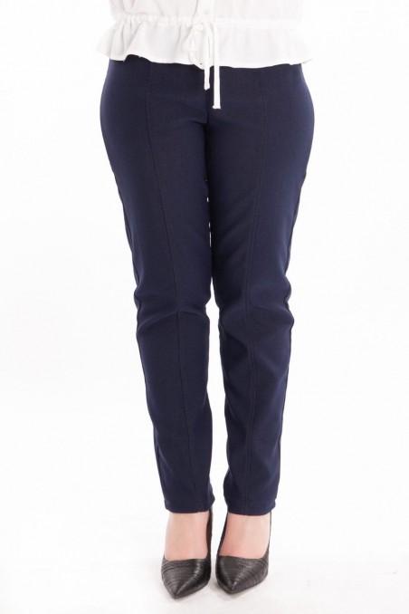 Pantaloni conici din denim Bleumarin