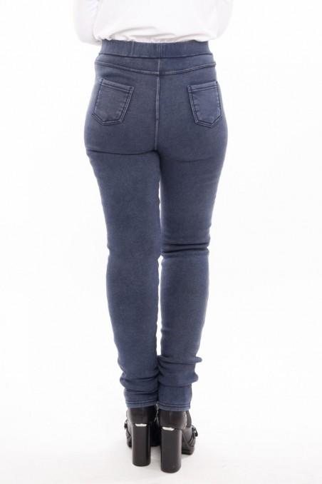 Jeans tip colanți îmblăniți